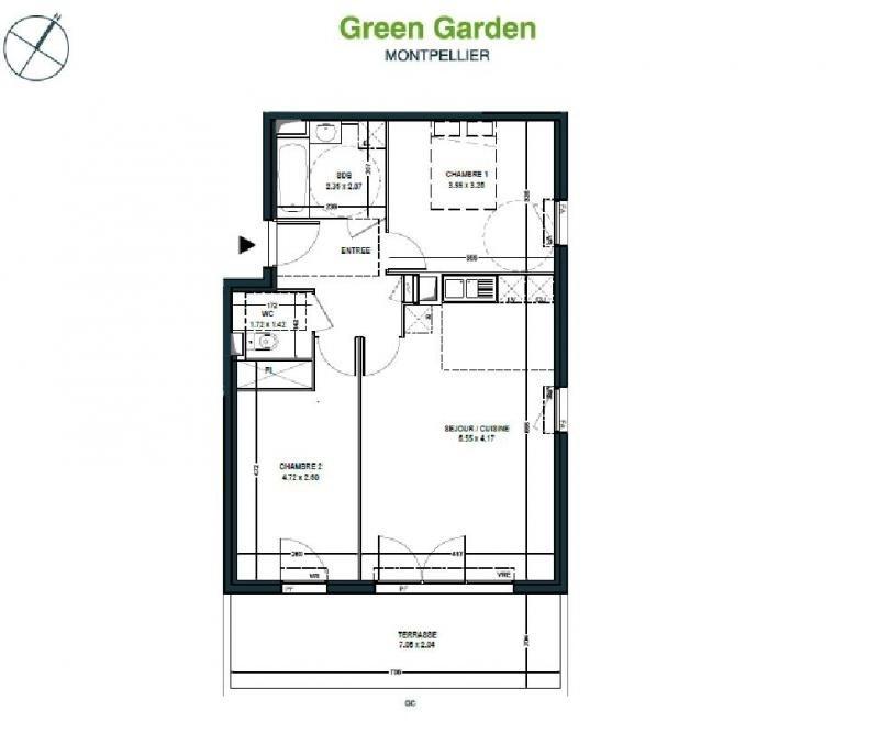 Vente appartement Montpellier 224000€ - Photo 3