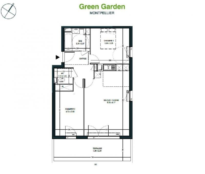 Sale apartment Montpellier 227000€ - Picture 4