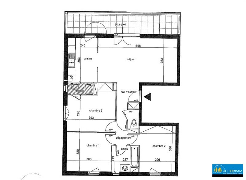 Vente appartement Mions 259000€ - Photo 9