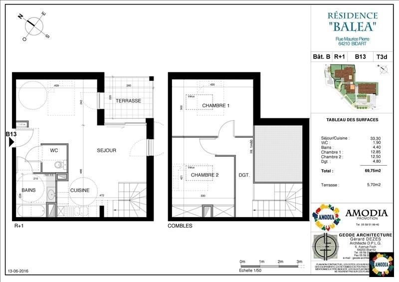 Sale apartment Bidart 381000€ - Picture 1