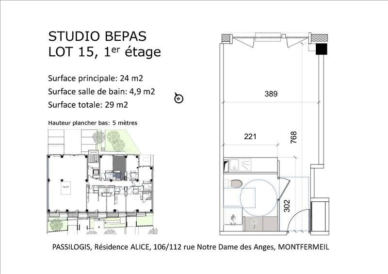 Sale apartment Montfermeil 105000€ - Picture 3