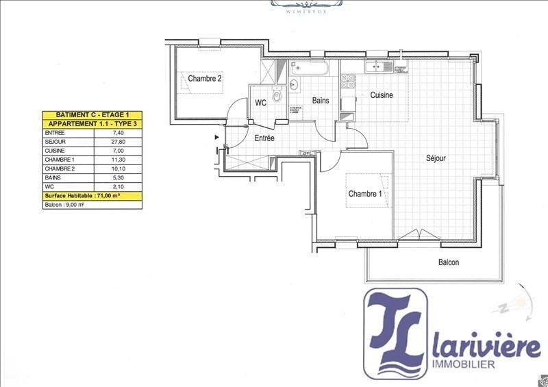 Vente appartement Wimereux 292000€ - Photo 1