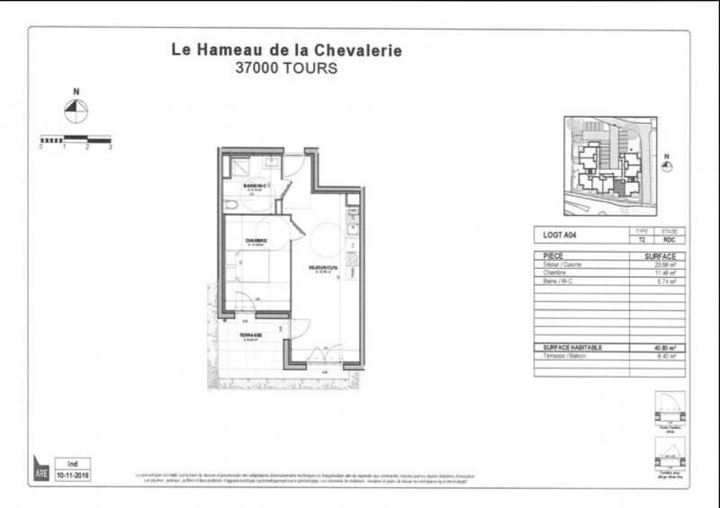 Vente appartement Tours 137000€ - Photo 2