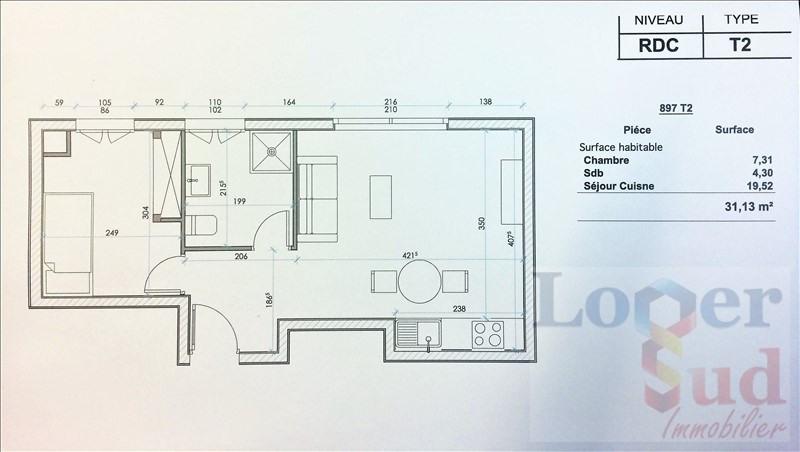 Sale apartment Montpellier 84000€ - Picture 2