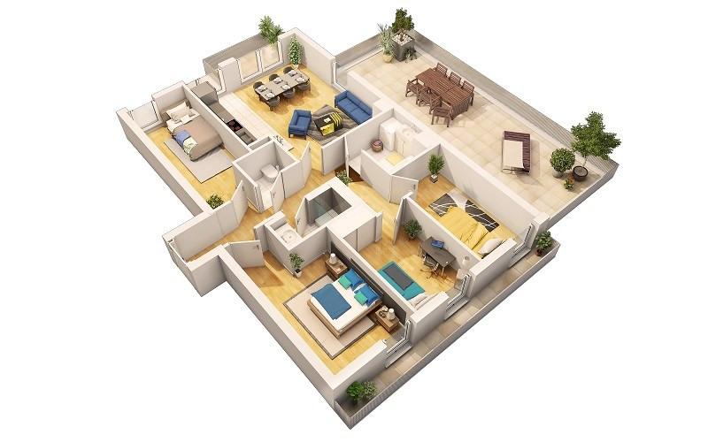 Jardin en ville programme immobilier neuf les pavillons for Programme 3d maison