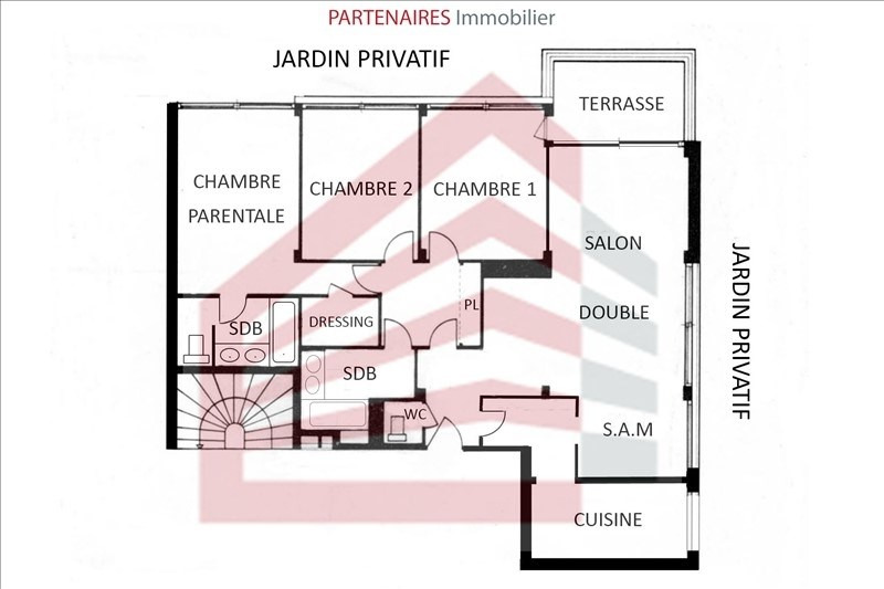 Sale apartment Le chesnay 439000€ - Picture 6