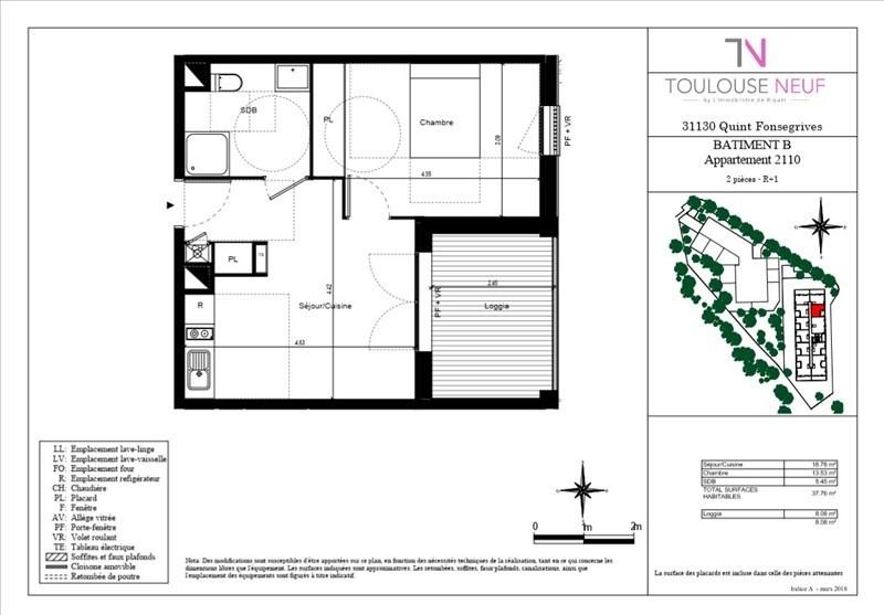 Vente appartement Quint-fonsegrives 162000€ - Photo 2