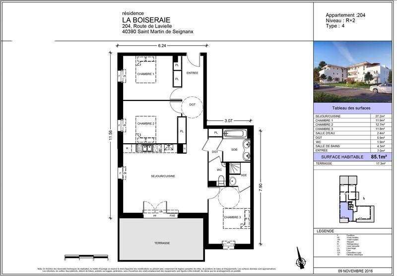 Sale apartment St martin de seignanx 252300€ - Picture 2