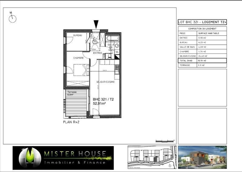 Sale apartment Montauban 139238,50€ - Picture 2