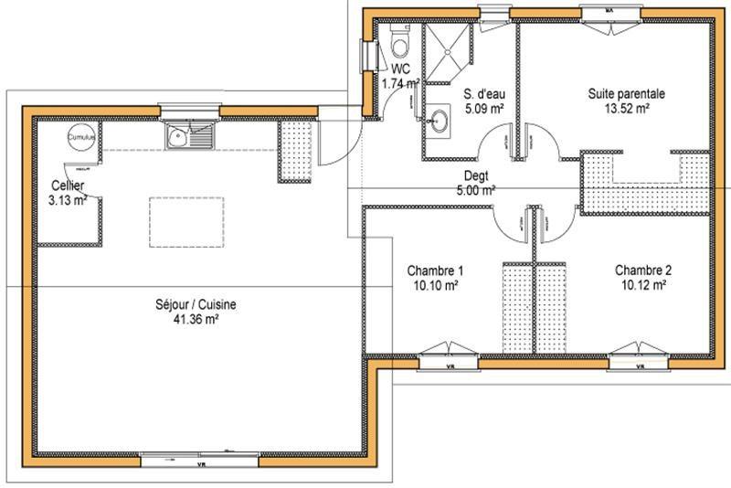 Maison  3 pièces + Terrain 980 m² Aubie et Espessas (33240) par IMMO CONSTRUCTION