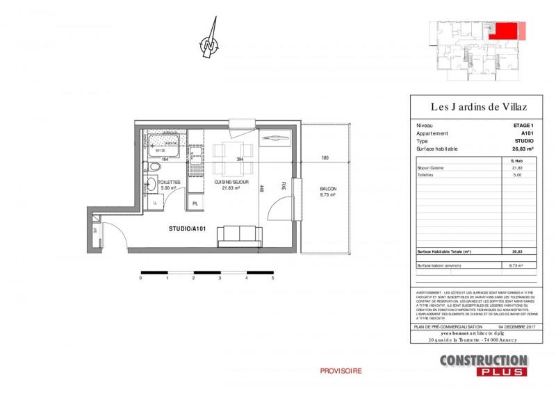 Sale apartment Villaz 119000€ - Picture 6