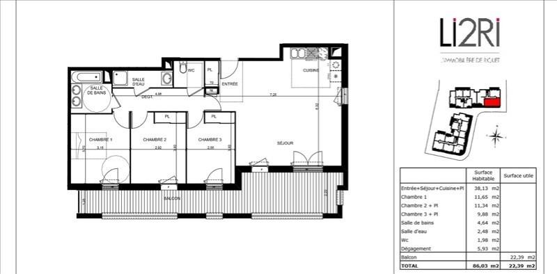 Vente appartement Toulouse 352250€ - Photo 2