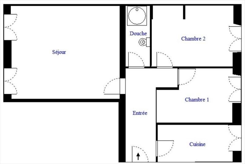 Venta  apartamento Paris 18ème 273000€ - Fotografía 1