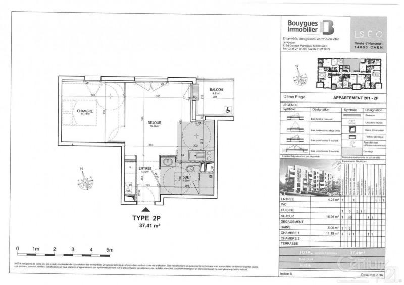 Locação apartamento Caen 465€ CC - Fotografia 2