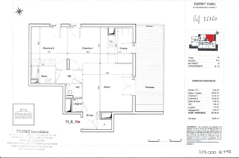 Vente appartement Dardilly 319000€ - Photo 4