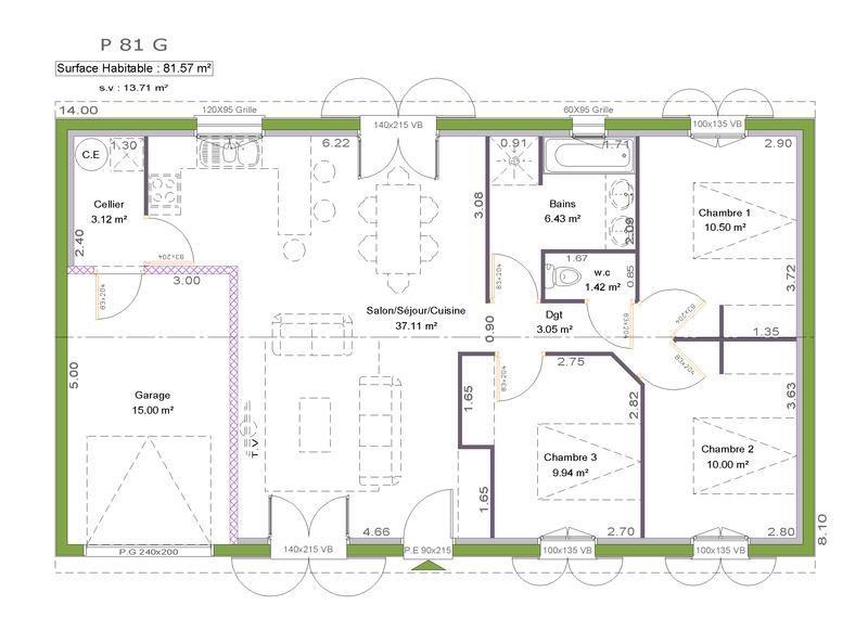 Maison  5 pièces + Terrain 500 m² Dax (40100) par LITTORAL HABITAT