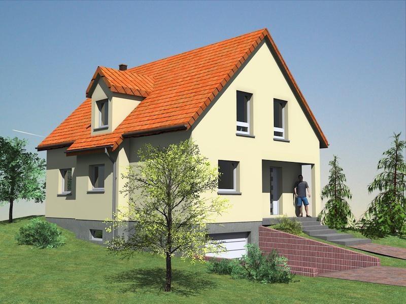 """Modèle de maison  """"Arthur"""" à partir de 5 pièces Vosges par GRAFIC HABITAT"""