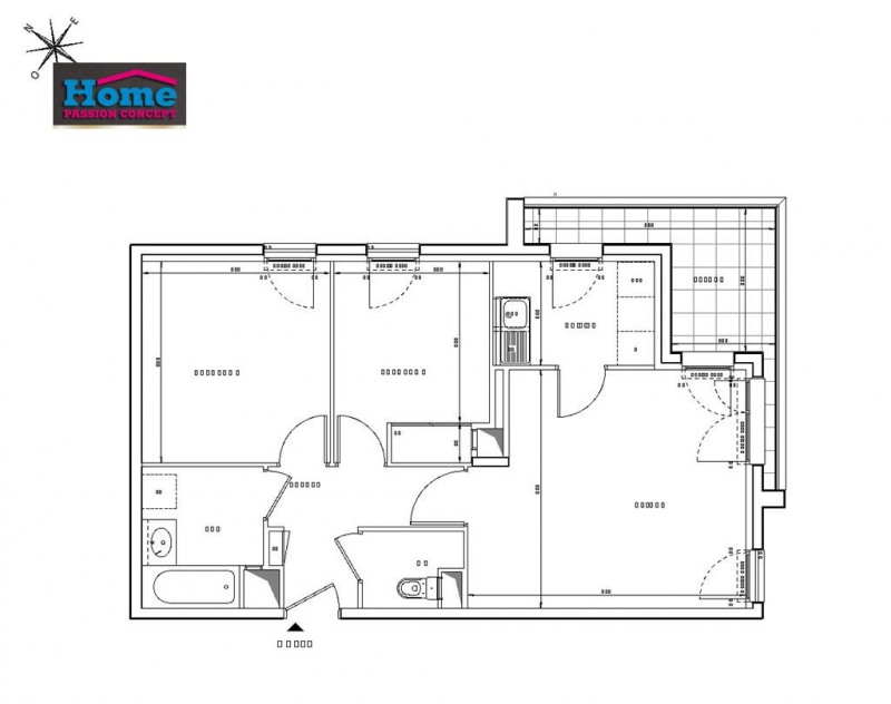 Vente appartement Rueil malmaison 406000€ - Photo 2