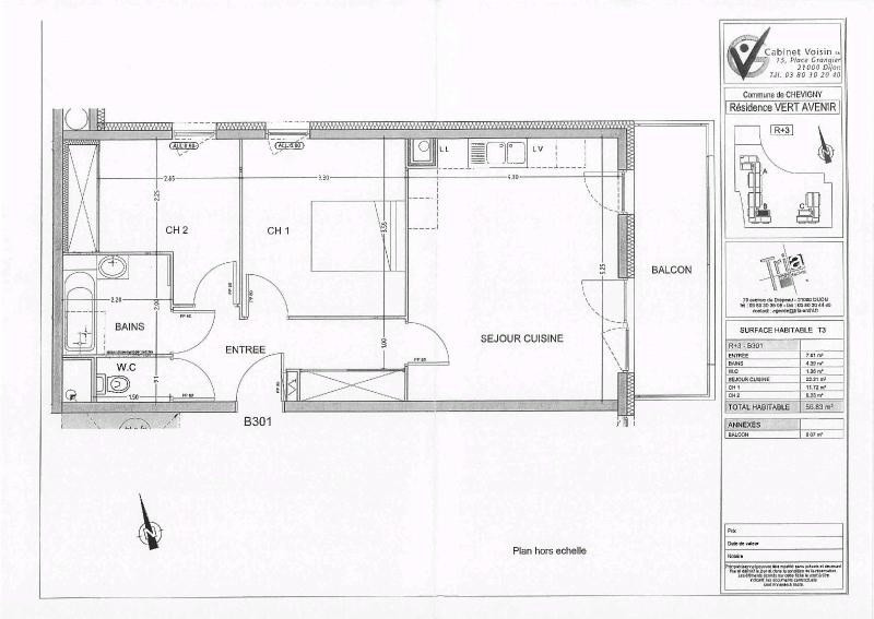 Location appartement Chevigny st sauveur 599€ CC - Photo 7
