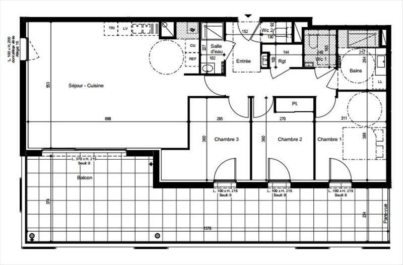 Vendita appartamento Vetraz monthoux 434000€ - Fotografia 1