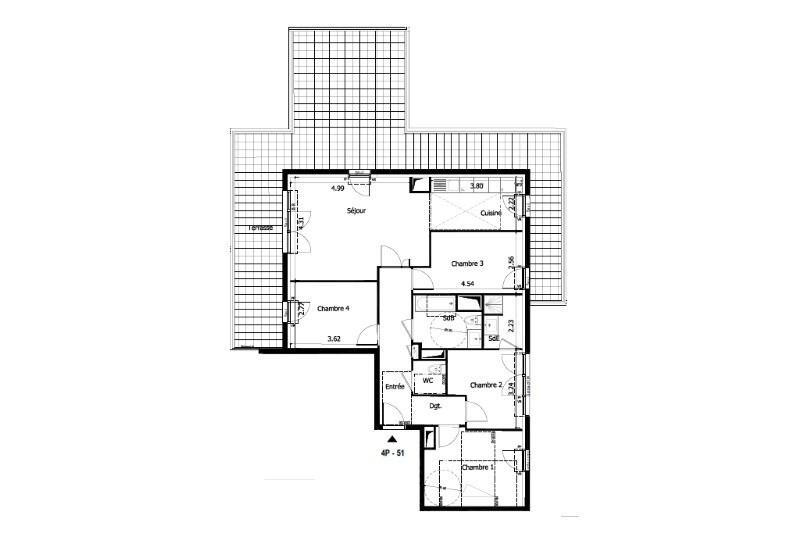 Vente appartement Sceaux 801300€ - Photo 1