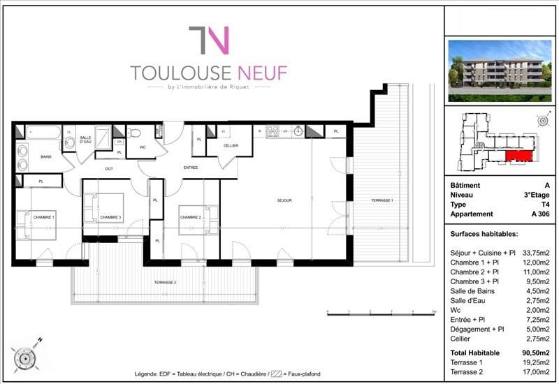 Vente appartement Toulouse 365000€ - Photo 5