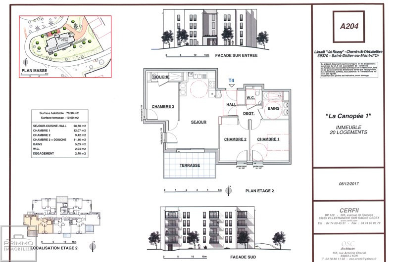Vente appartement Saint didier au mont d'or 372000€ - Photo 2