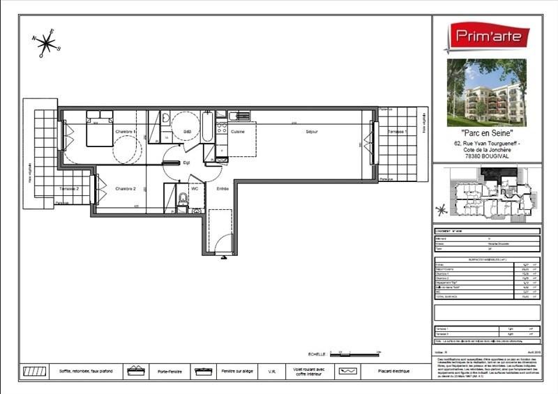 Sale apartment Bougival 315000€ - Picture 1