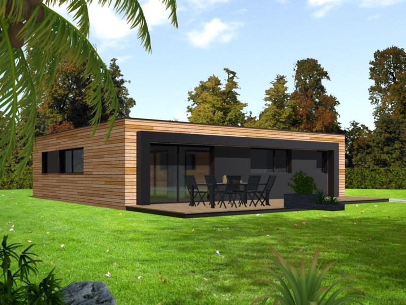"""Modèle de maison  """"Maison patio ultra contemporaine 93m²"""" à partir de 5 pièces Seine-et-Marne par PRIMOBOIS MARNE-LA-VALLEE"""