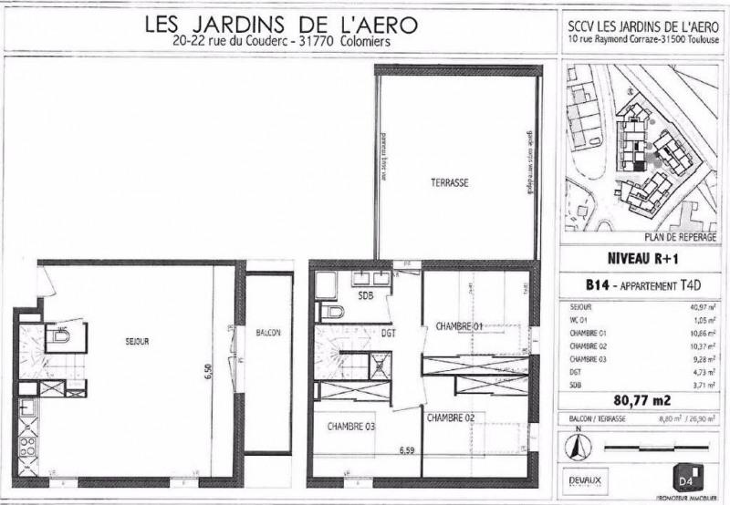 Rental apartment Colomiers 900€ CC - Picture 1