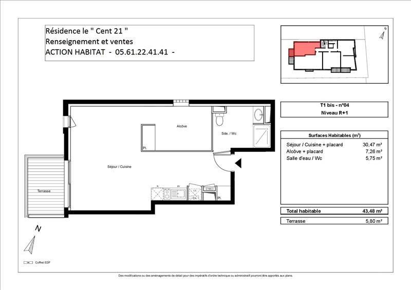 Vente appartement Toulouse 165000€ - Photo 2