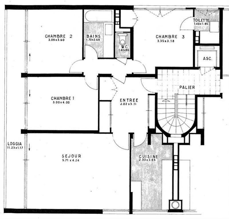 Vente appartement La celle saint cloud 360000€ - Photo 3
