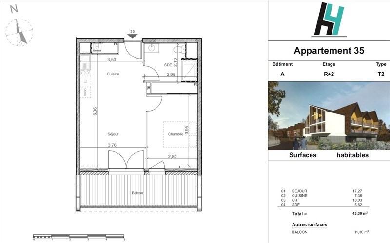 Sale apartment Pau 126000€ - Picture 3
