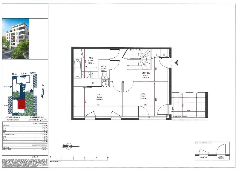 Venta  apartamento Villeurbanne 385000€ - Fotografía 3