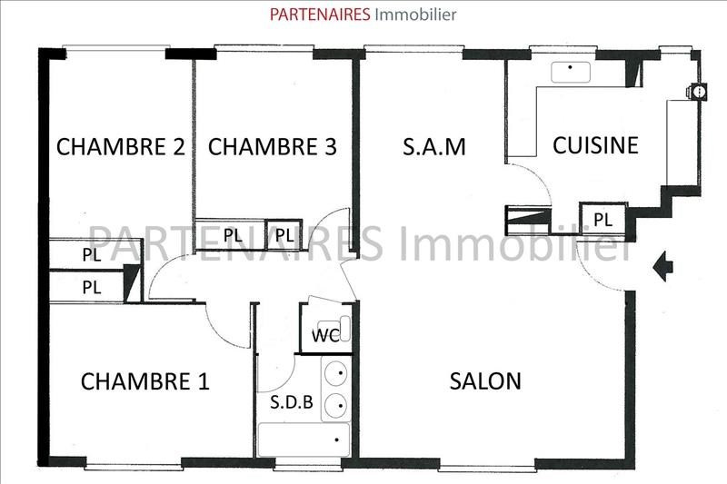 Sale apartment Le chesnay 250000€ - Picture 9