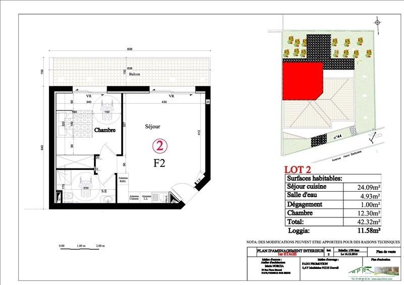 Investment property apartment Vigneux sur seine 158000€ - Picture 2