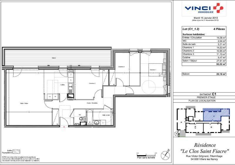 Venta  apartamento Villers les nancy 355900€ - Fotografía 10
