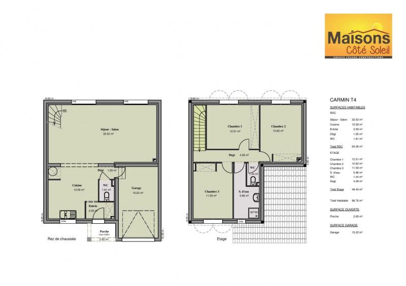 Maison  4 pièces + Terrain 772 m² Castelnaudary par maisons cote soleil