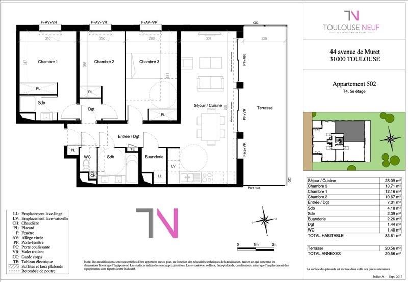 Vente appartement Toulouse 358000€ - Photo 6