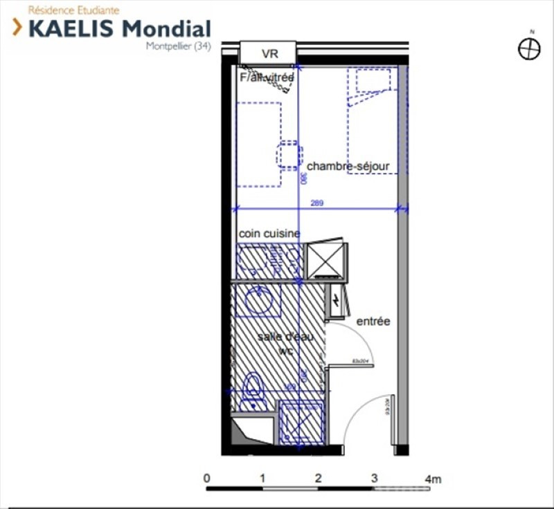 Investment property apartment Montpellier 95616€ - Picture 3
