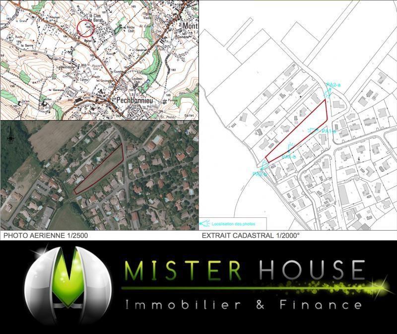 Vendita terreno Pechbonnieu 111000€ - Fotografia 2
