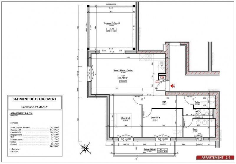Sale apartment Amancy 230000€ - Picture 2