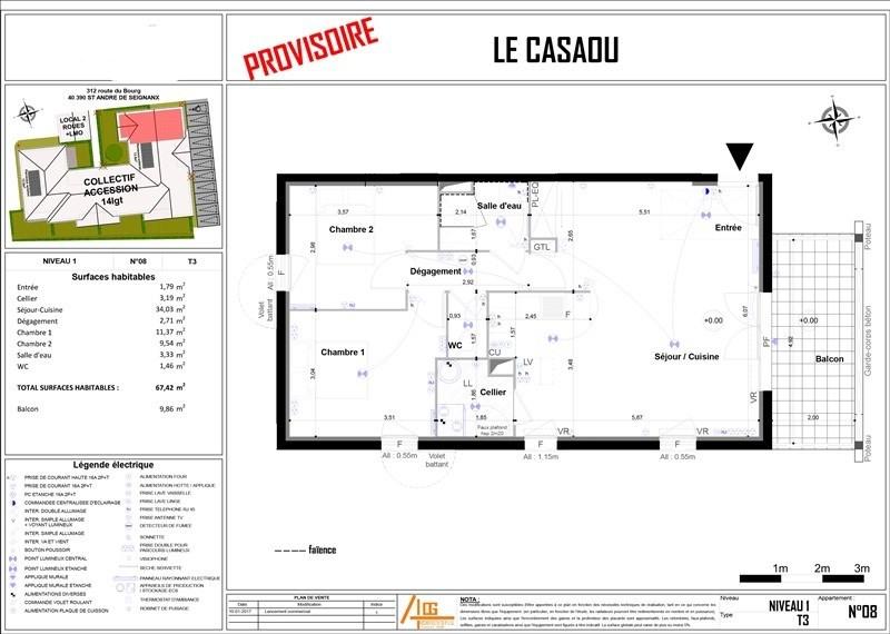 Sale apartment St andre de seignanx 189000€ - Picture 3