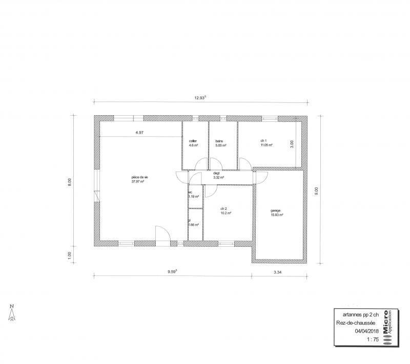 Vente maison / villa Artannes sur indre 198000€ - Photo 1
