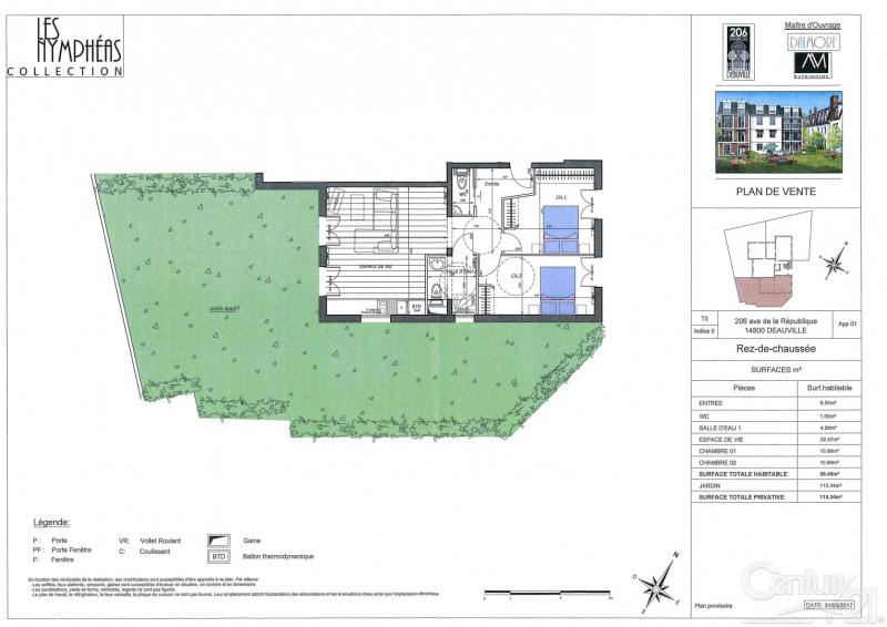 Venta  apartamento Deauville 380000€ - Fotografía 1