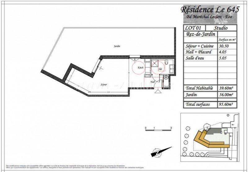 Venta  apartamento Èze 225720€ - Fotografía 3