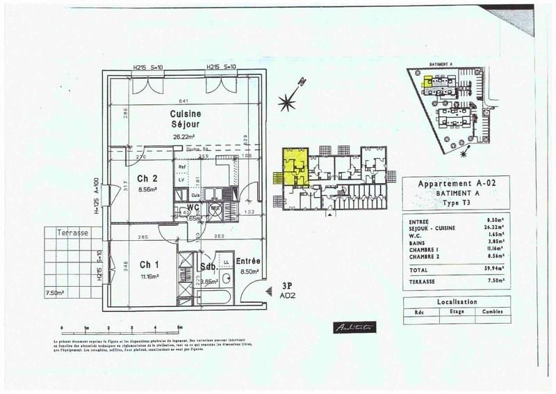 Verkoop  appartement Ville 139900€ - Foto 3