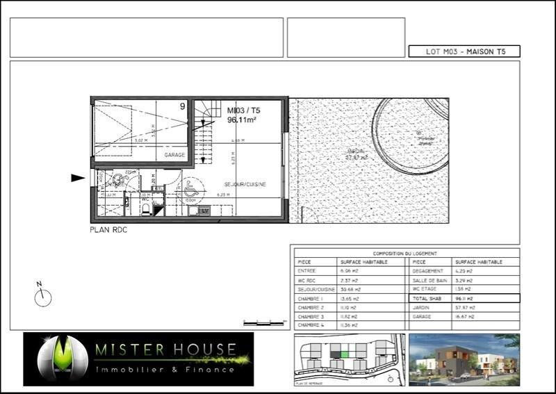 Vente maison / villa Montauban 209331€ - Photo 2
