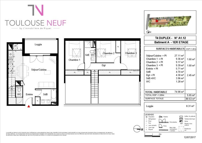 Vente appartement Toulouse 249900€ - Photo 4
