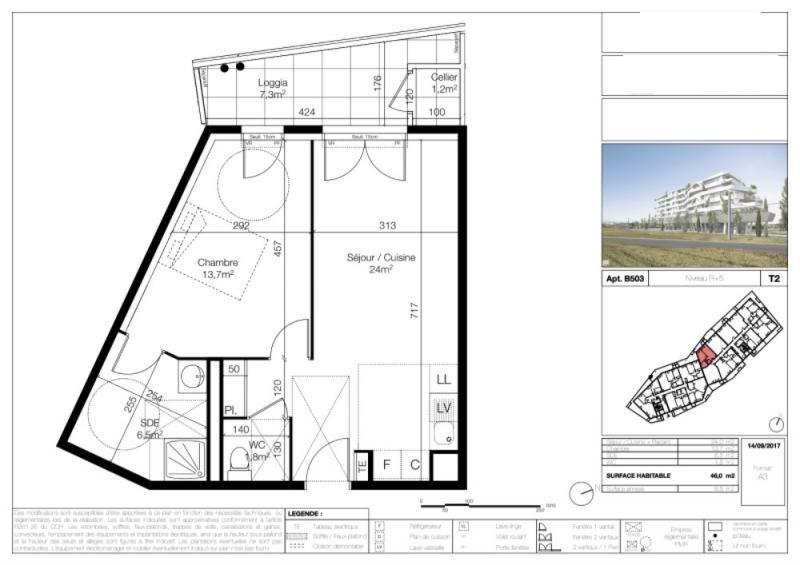 Sale apartment Lattes 220000€ - Picture 2